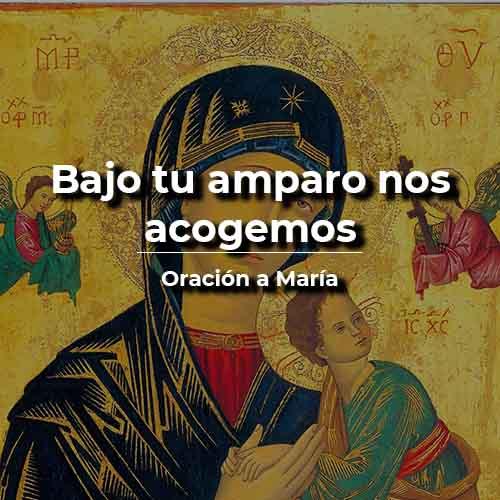 Bajo tu amparo nos acogemos oración católica