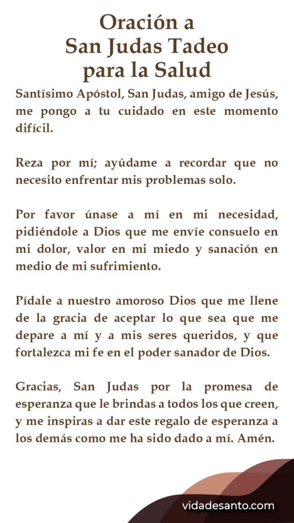 Oración a San Judas Tadeo para pedir Salud