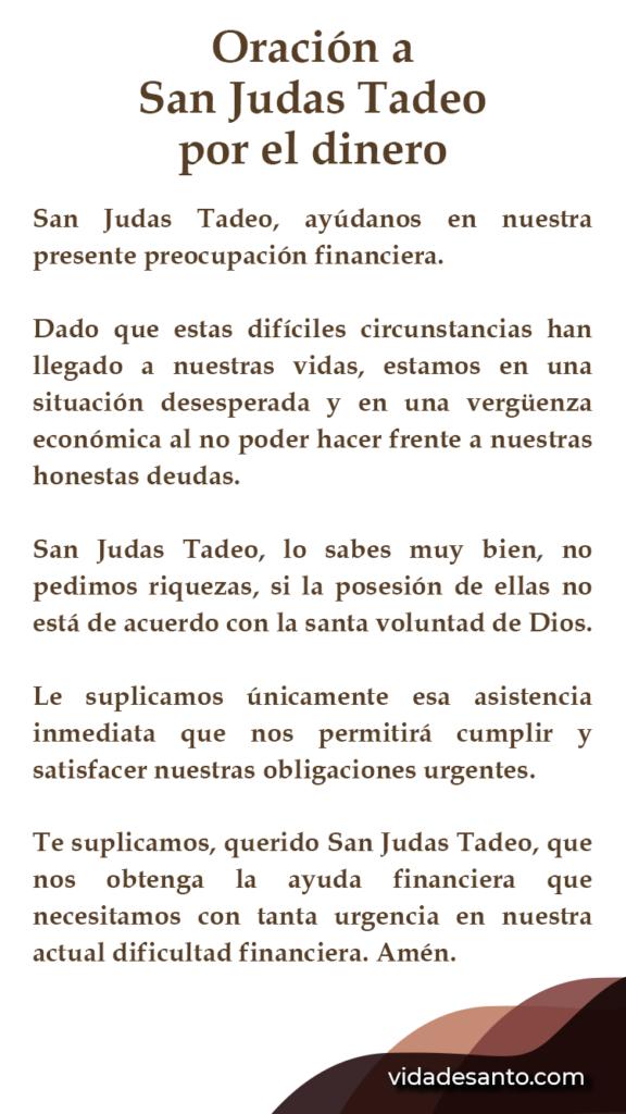 Oración a San Judas Tadeo por el dinero