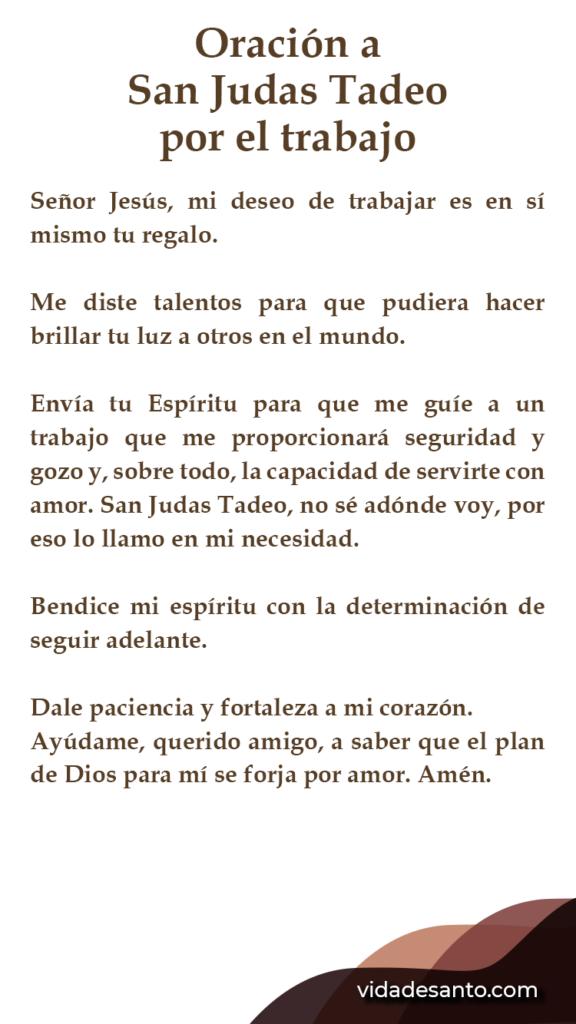 oración a San Judas Tadeo por el trabajo